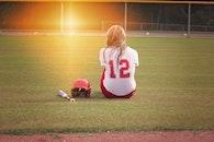 woman, field, girl