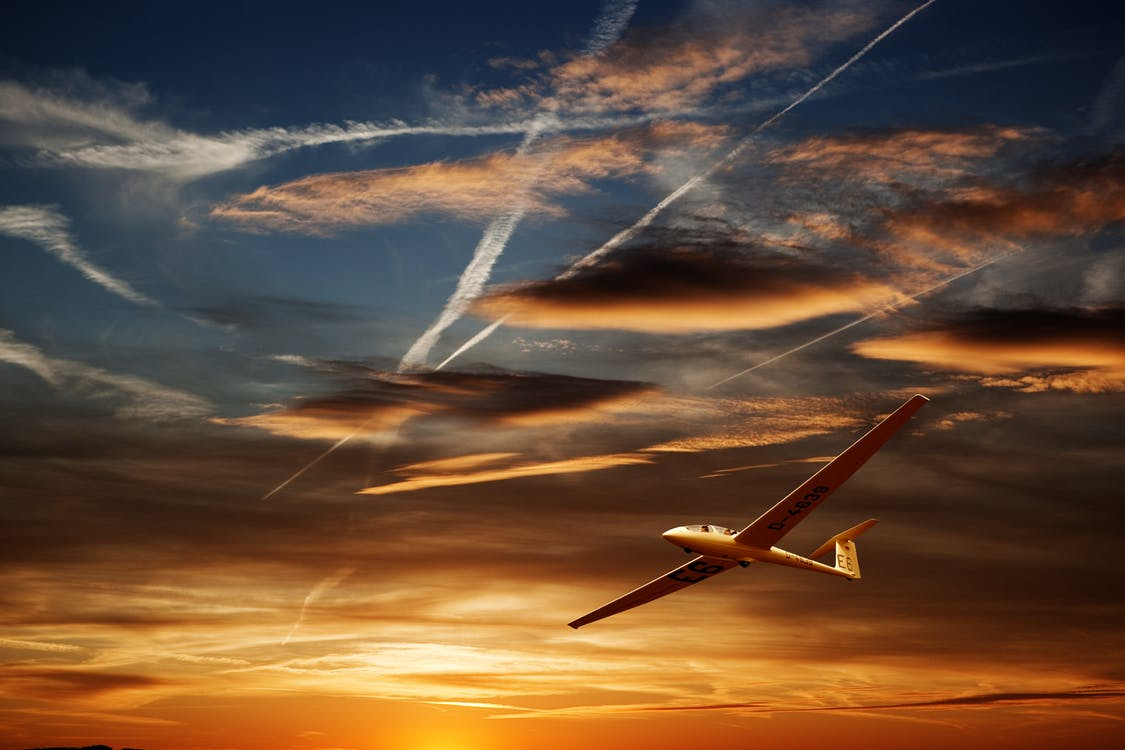 Airplane on Air during Golden Hour