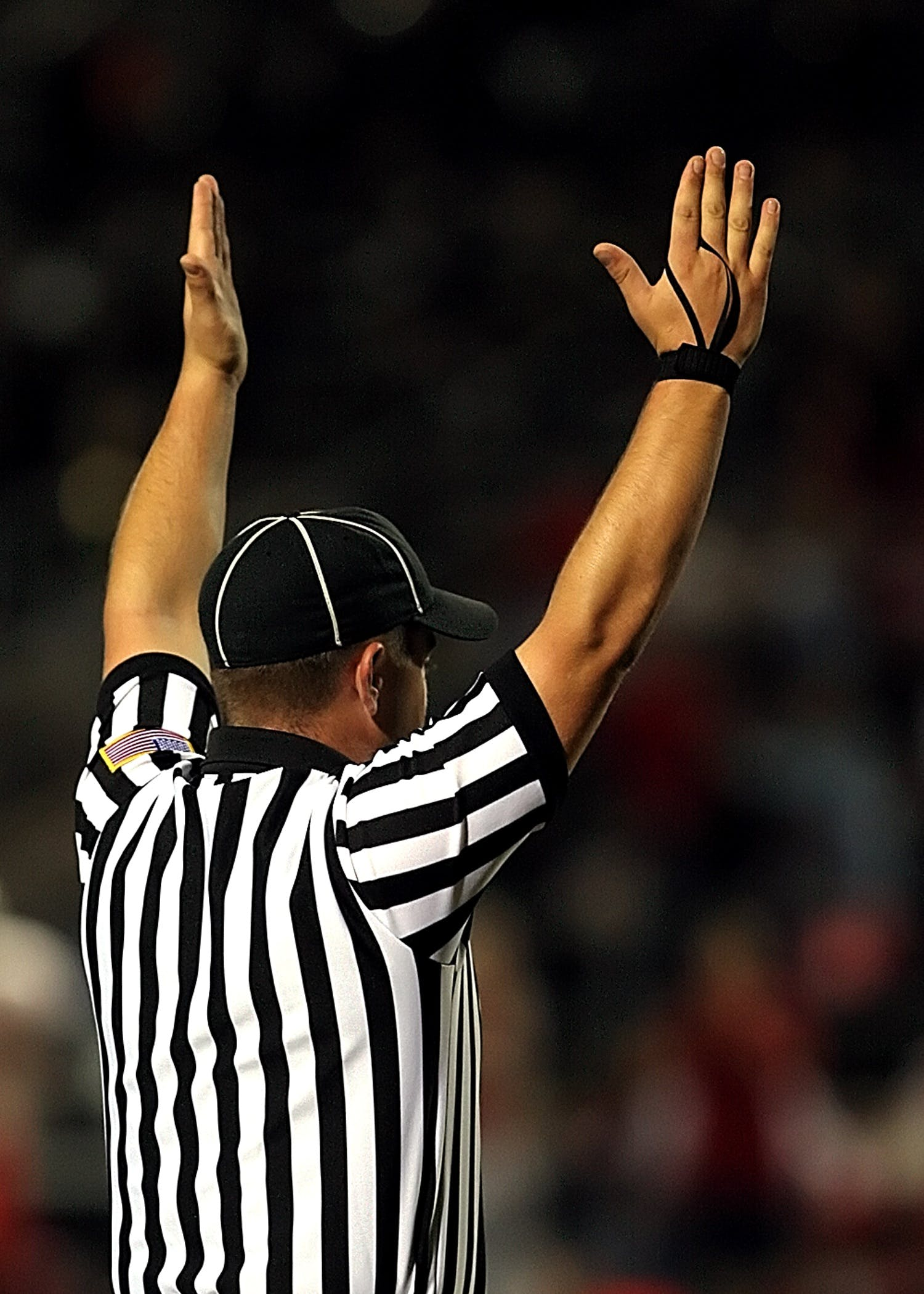 Referee Raising Both Hands