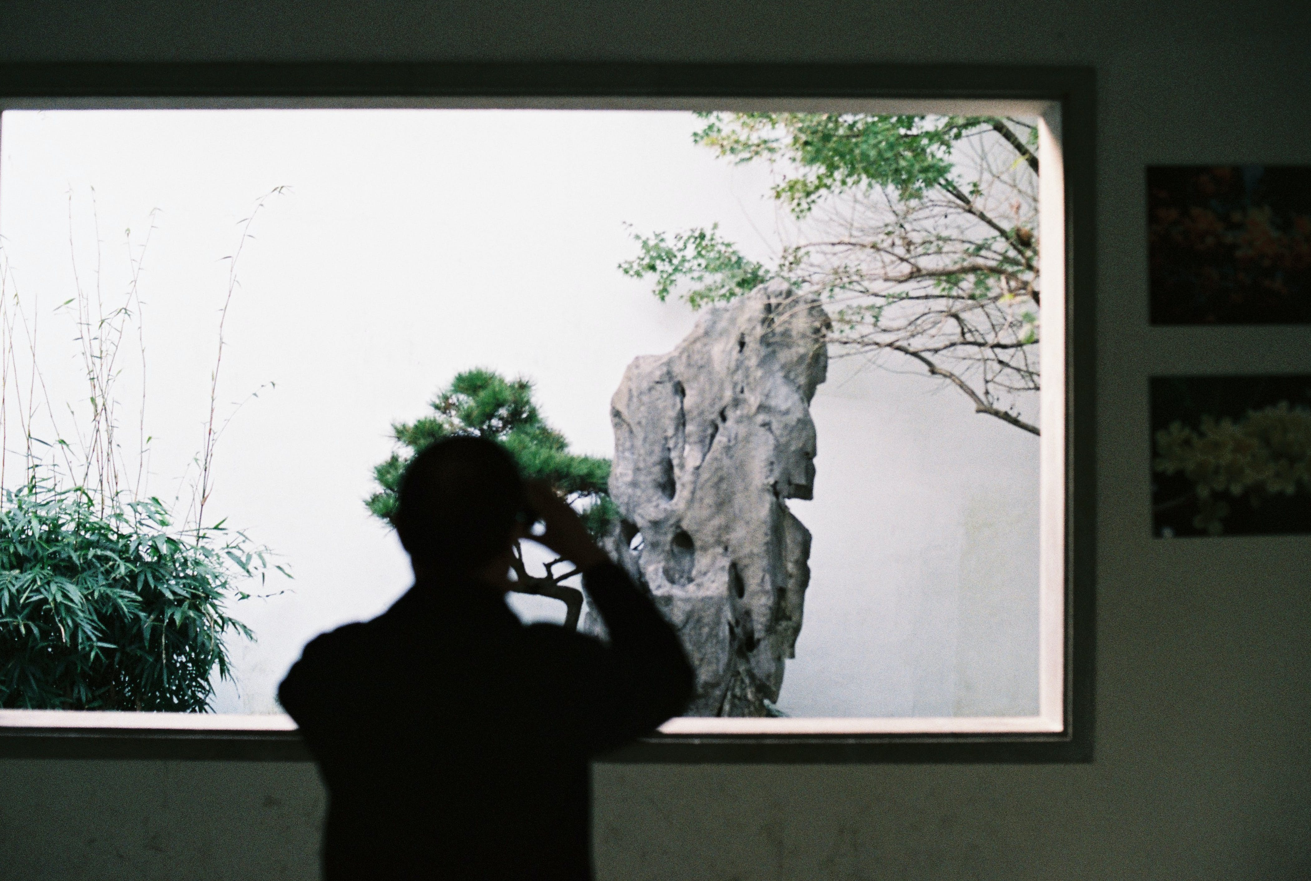 Person Taking Photo of Rock Formation