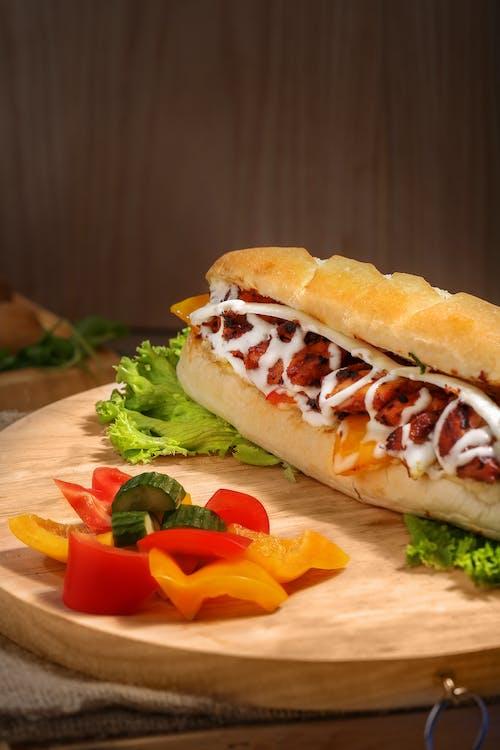 Základová fotografie zdarma na téma bulka, chleba, chutný, hlávkový salát
