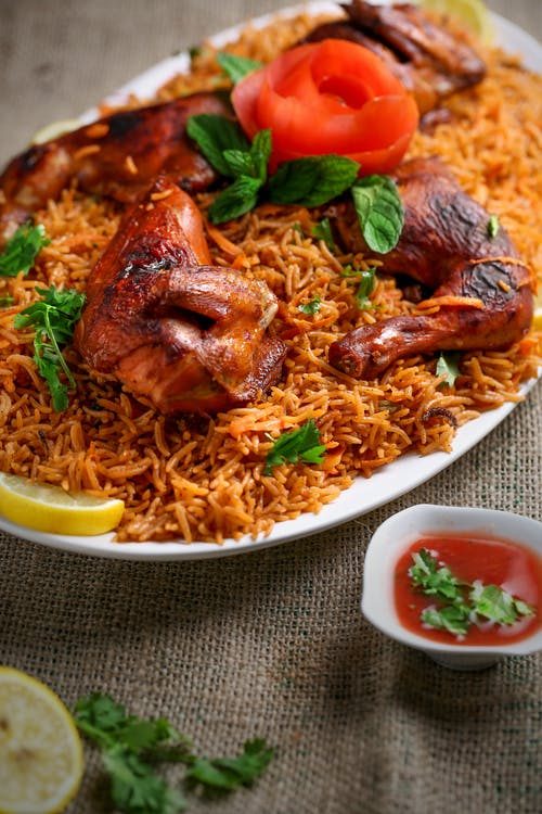 Free stock photo of biriyani, chicken, chilli