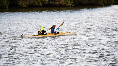 Photos gratuites de actif, canoë, eau, faire du canoë