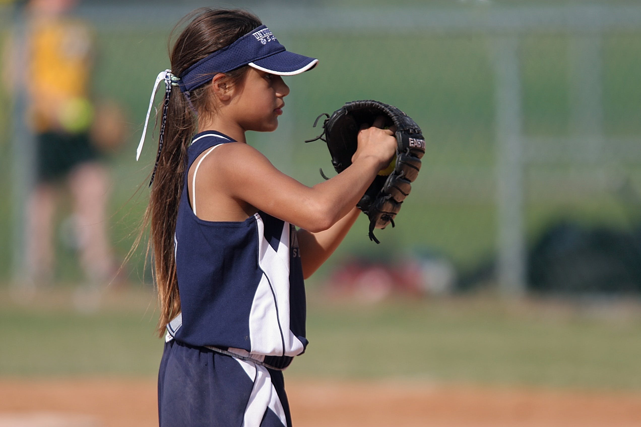 Girl Playing Baseball