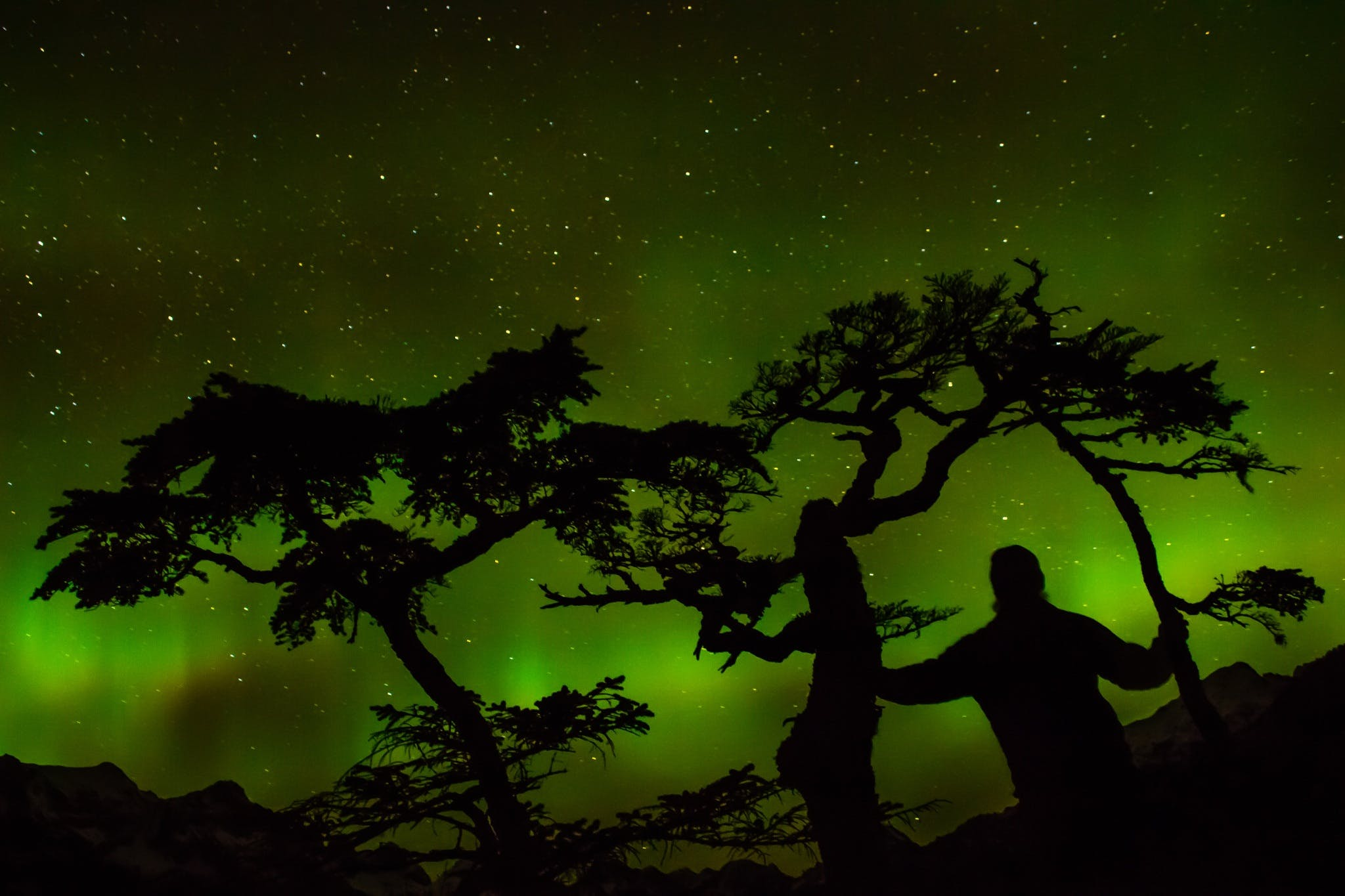 Green Aurora Light