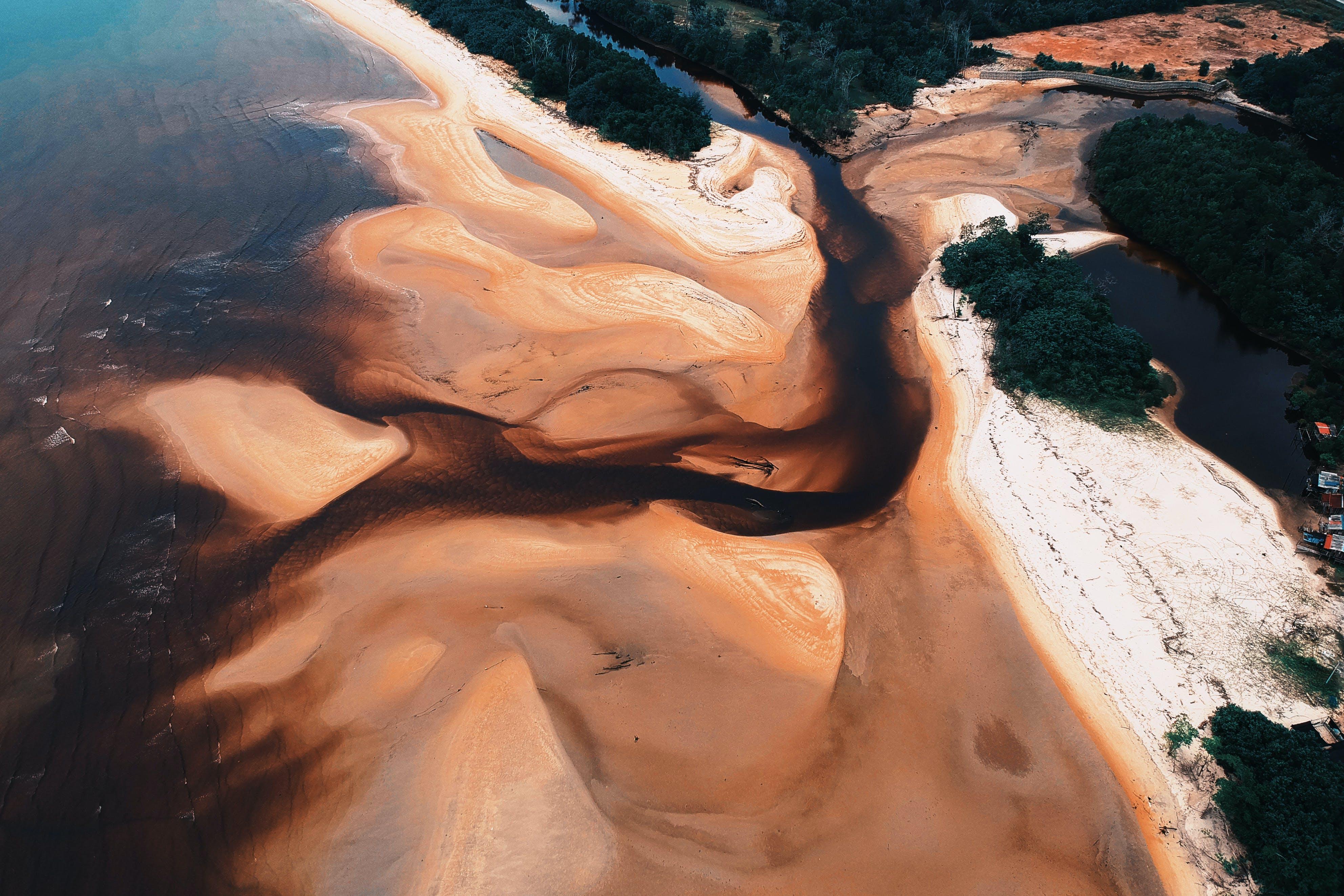 Gratis lagerfoto af bølger, dagslys, farver, fugleperspektiv