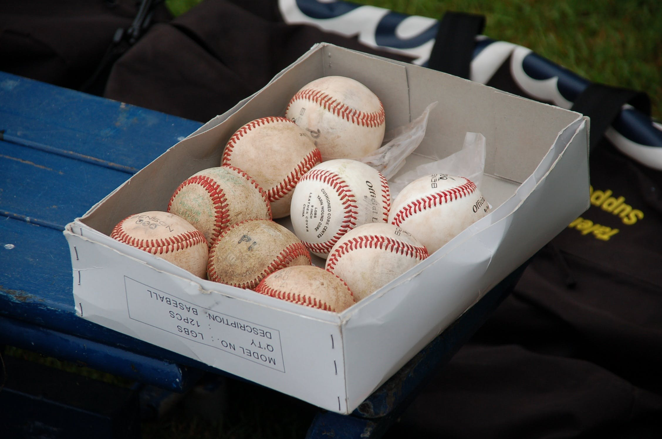 Red and White Baseball
