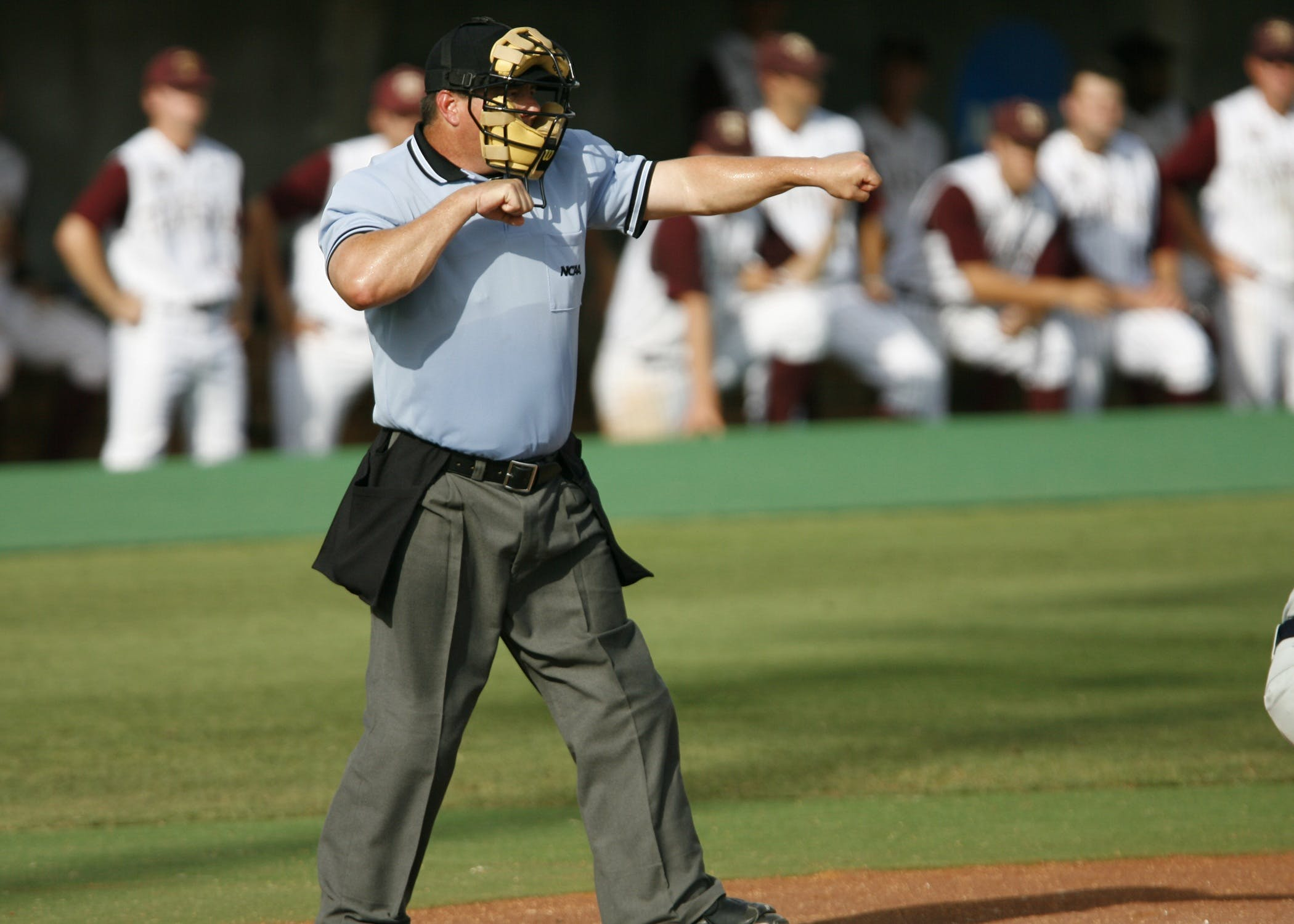 Tilt Shift Photography of a Baseball Referee