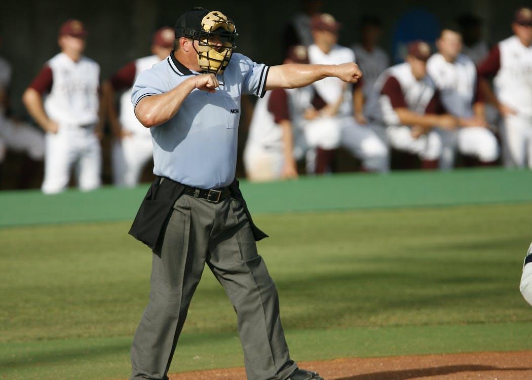 Tilt Shift Photography of a Baseball Referee