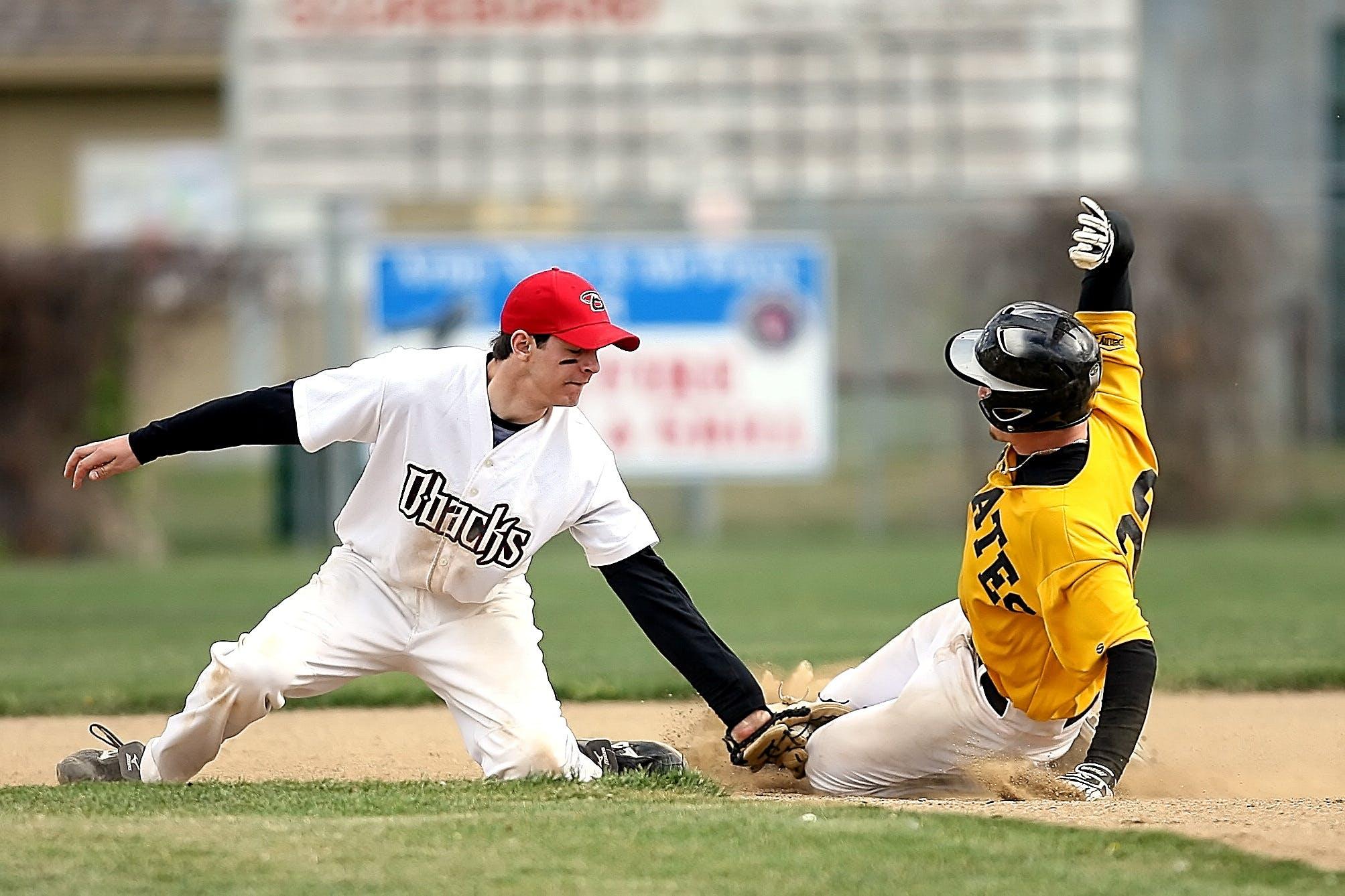 Kostenloses Stock Foto zu athleten, baseball, baseball-spieler, feld
