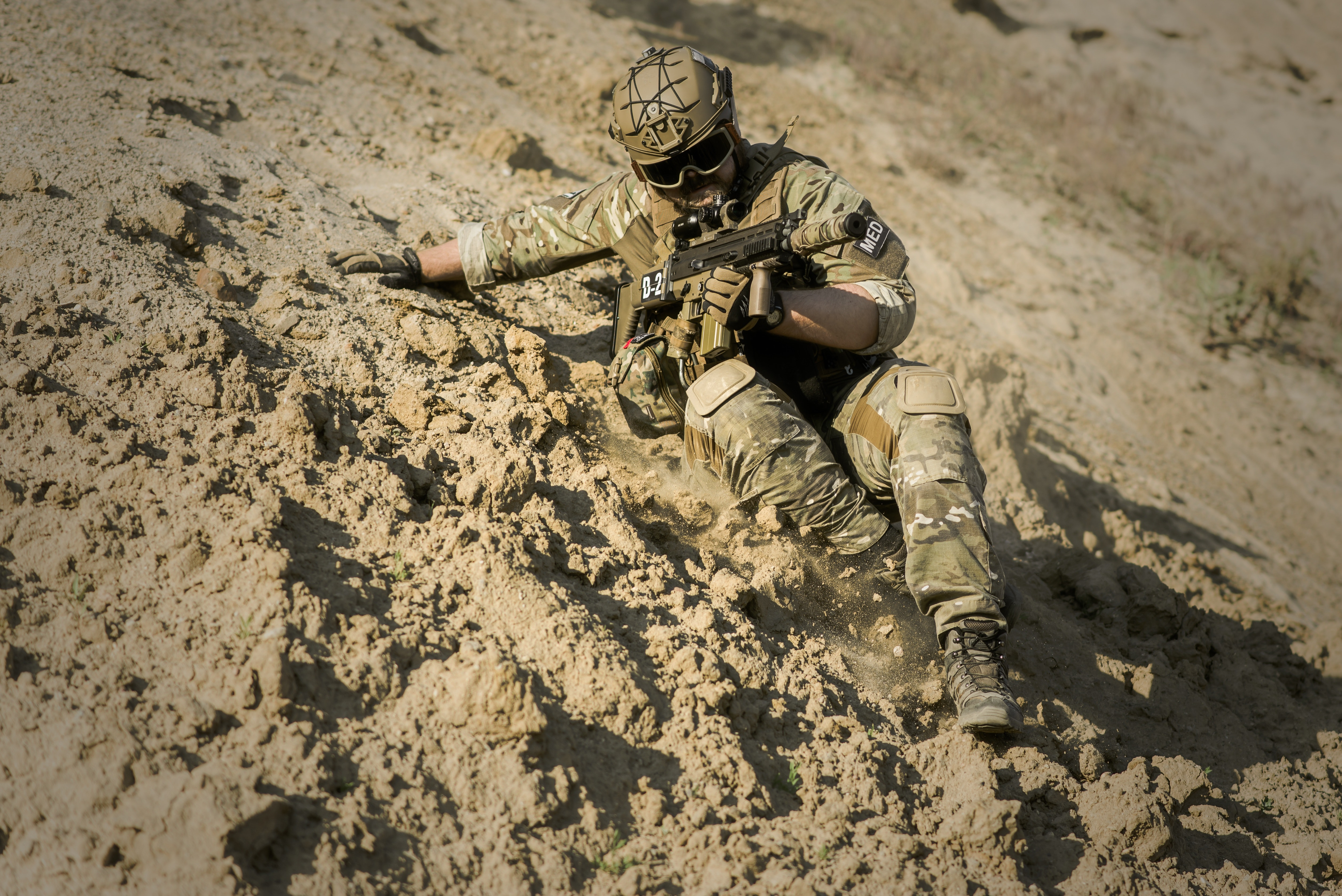 Soldier Aiming Rifle · Free Stock Photo