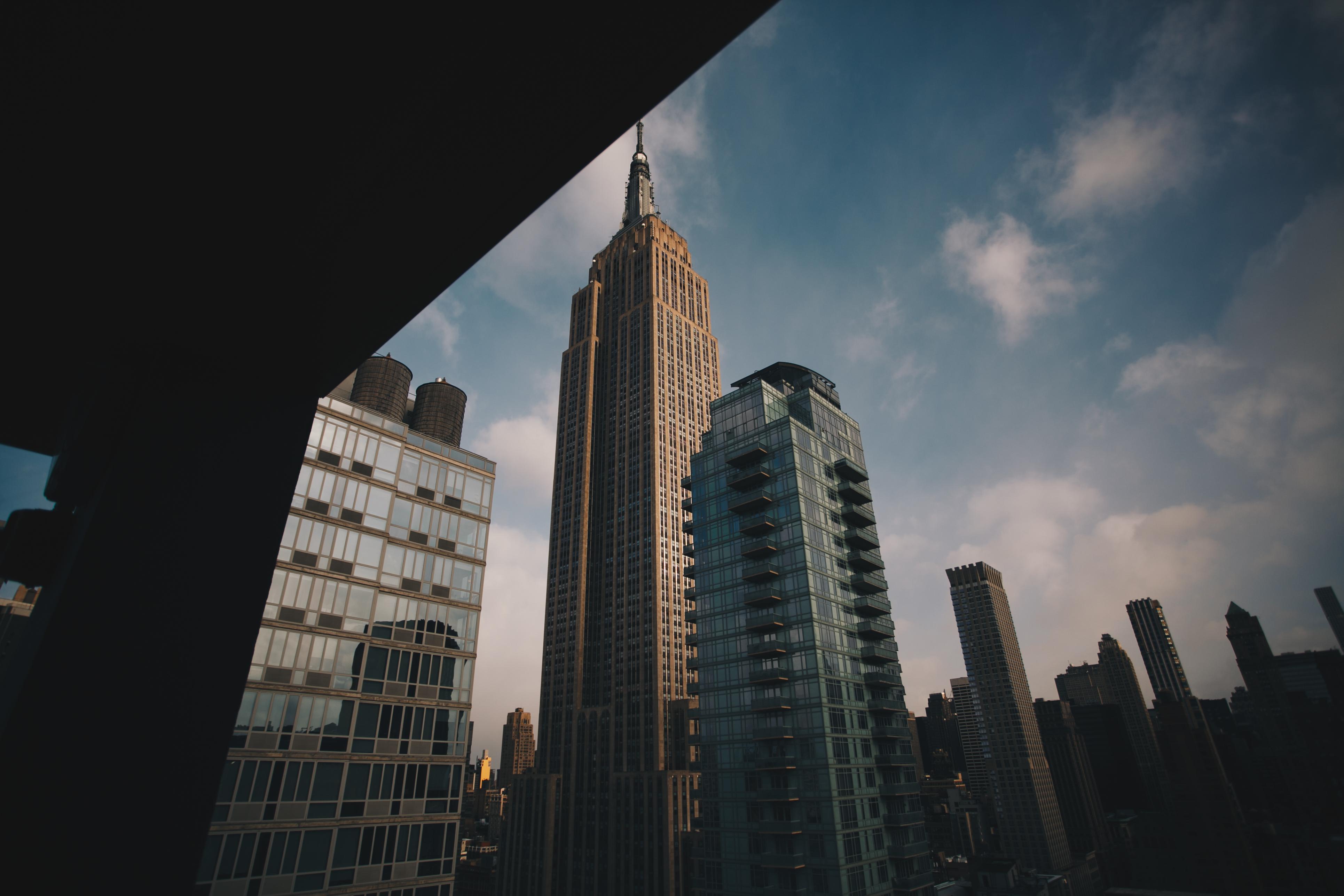 High-rise Concrete Builidngs Under Blue Sky
