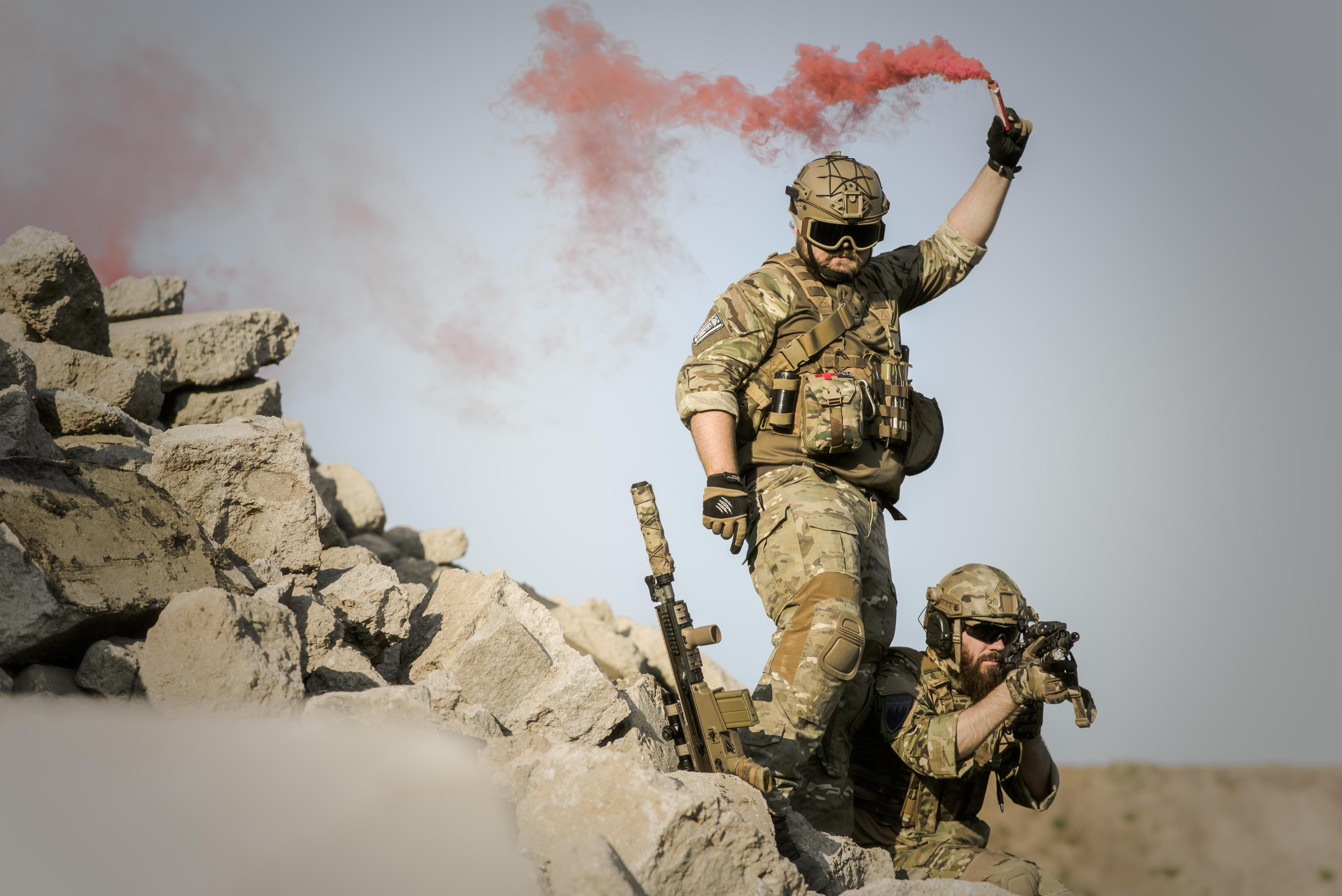 Free Stock Photo Of Army Black And White Gun