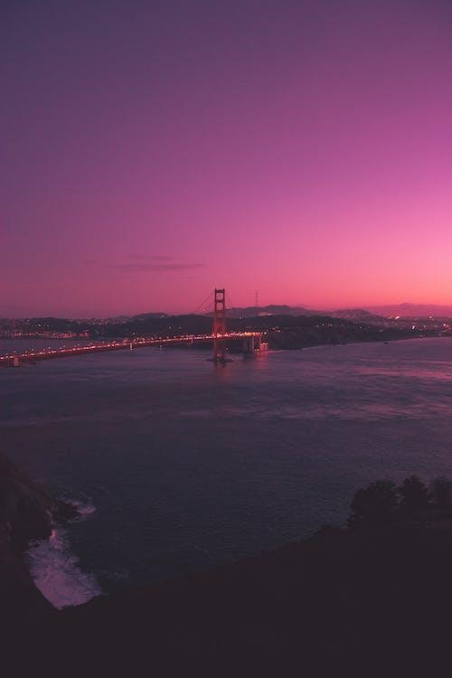arkitektur, bro, daggry