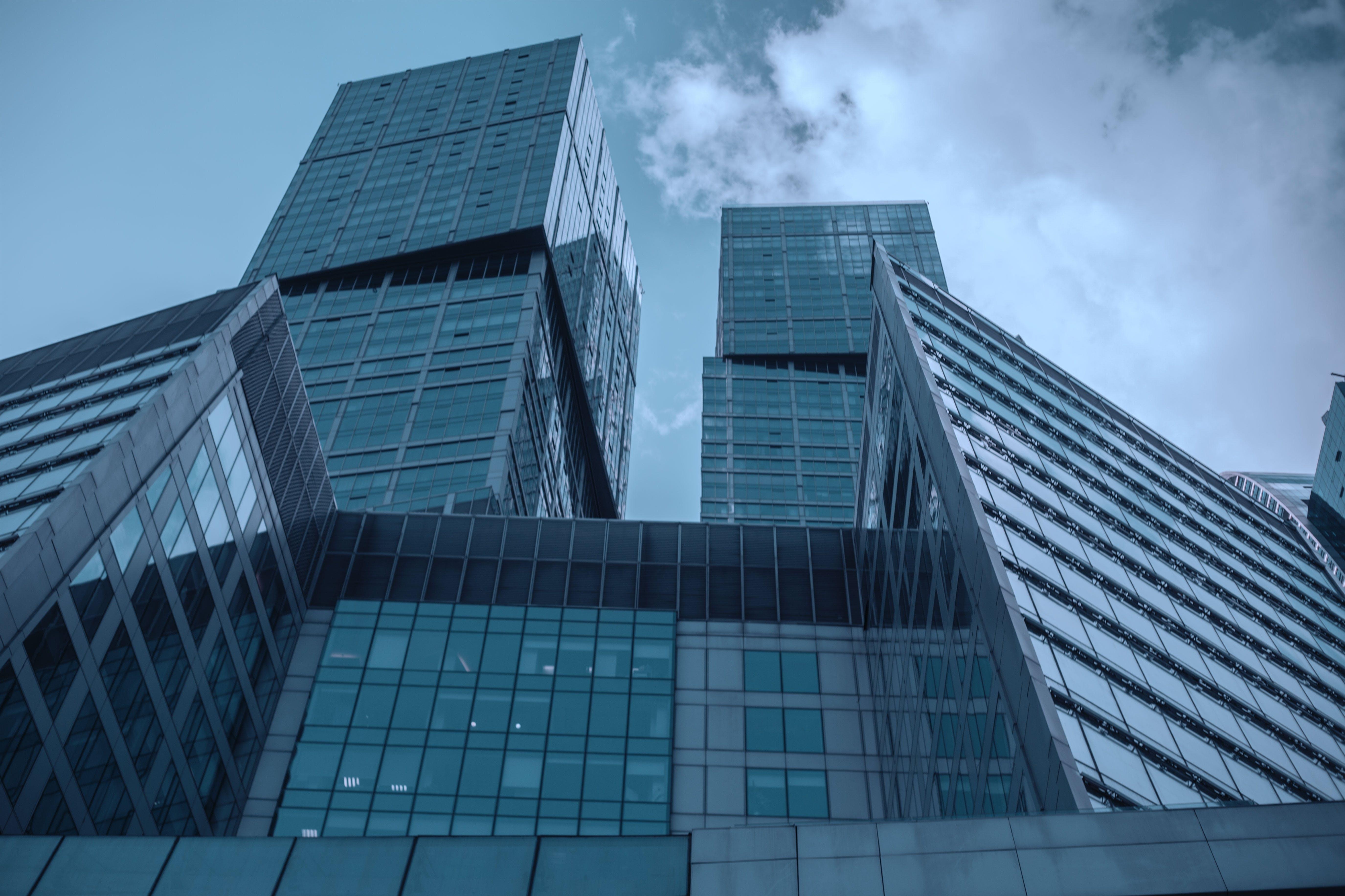 arkitektur, bygning, glas