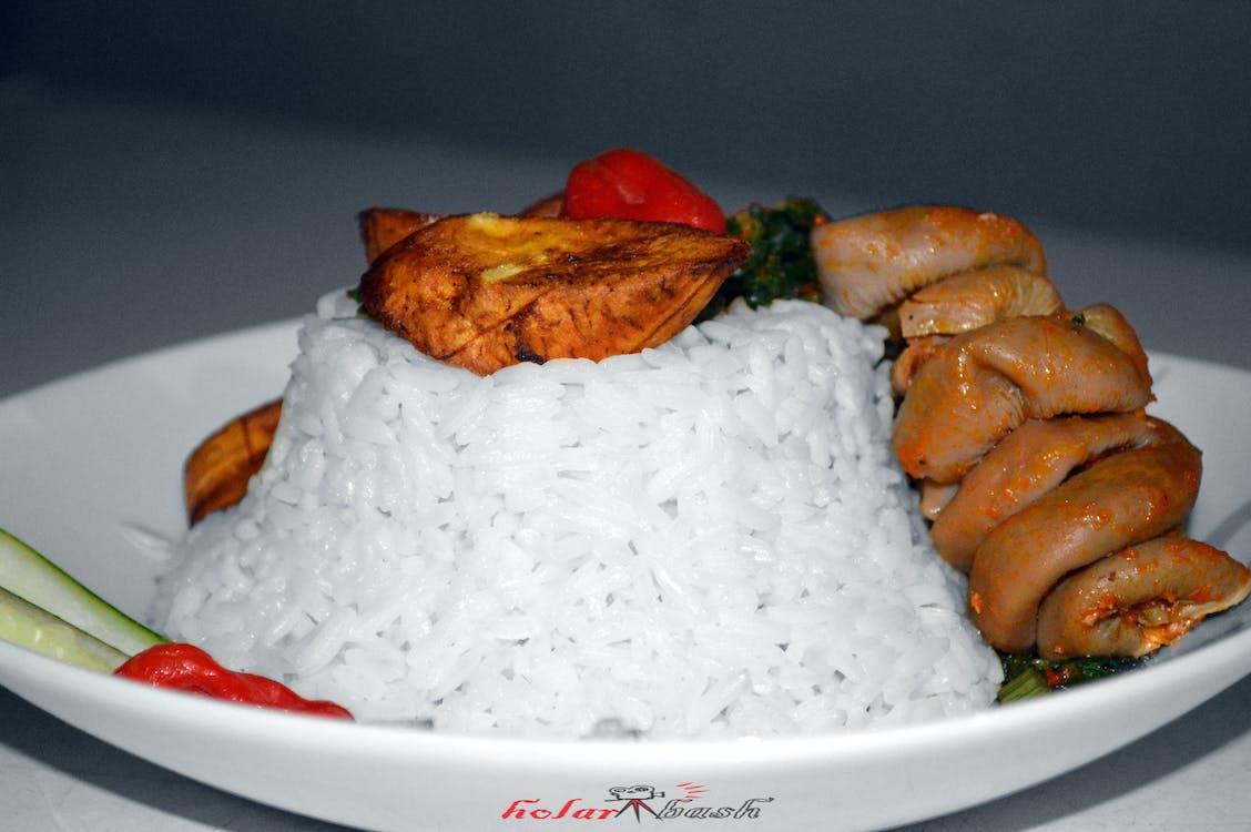 新鮮蔬菜, 白米, 白飯