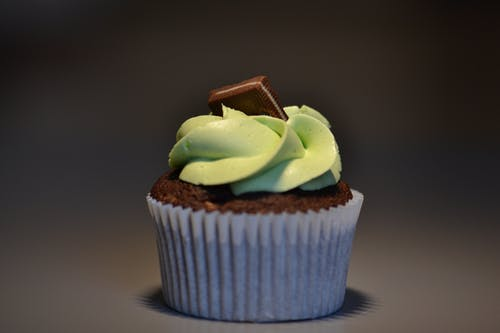 Selective Focus Photography Of Chocolate Cupcake