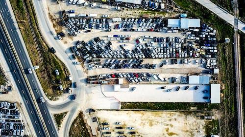 ドローン映像, モダン, 交通機関, 建物の無料の写真素材