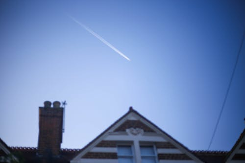 Free stock photo of airline upon a house