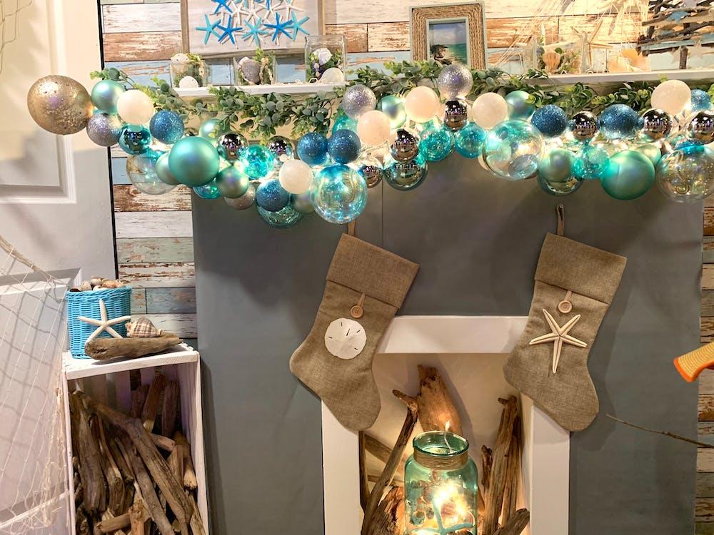 Kerstmis, kerstmis zeeschelpen, kerststrand