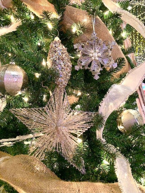 Kostenloses Stock Foto zu ornamental, verzierungen, weihnachten, weihnachtsbaum