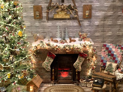 Immagine gratuita di camino, inverno, natale, periodo natalizio