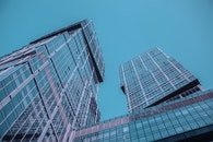 sky, buildings, glass