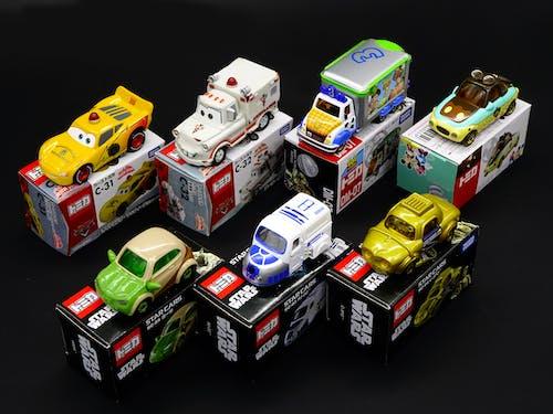 Foto d'estoc gratuïta de automòbil, bufó, col·lecció, cotxes de joguina