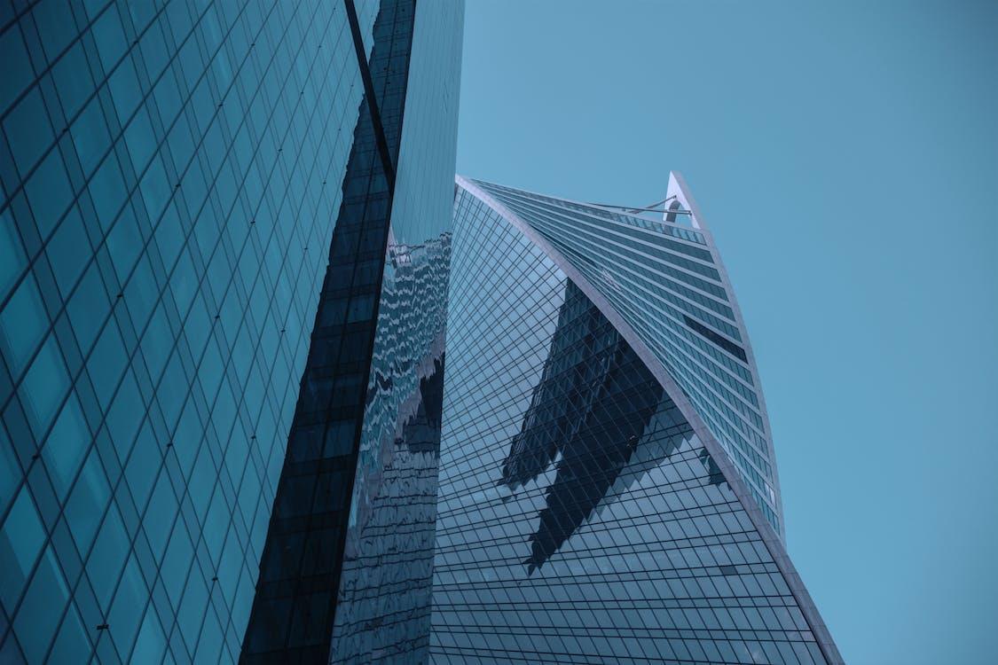 arkitektur, bygning, glass
