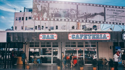 Bar Cafeteria Under Blue Clouds