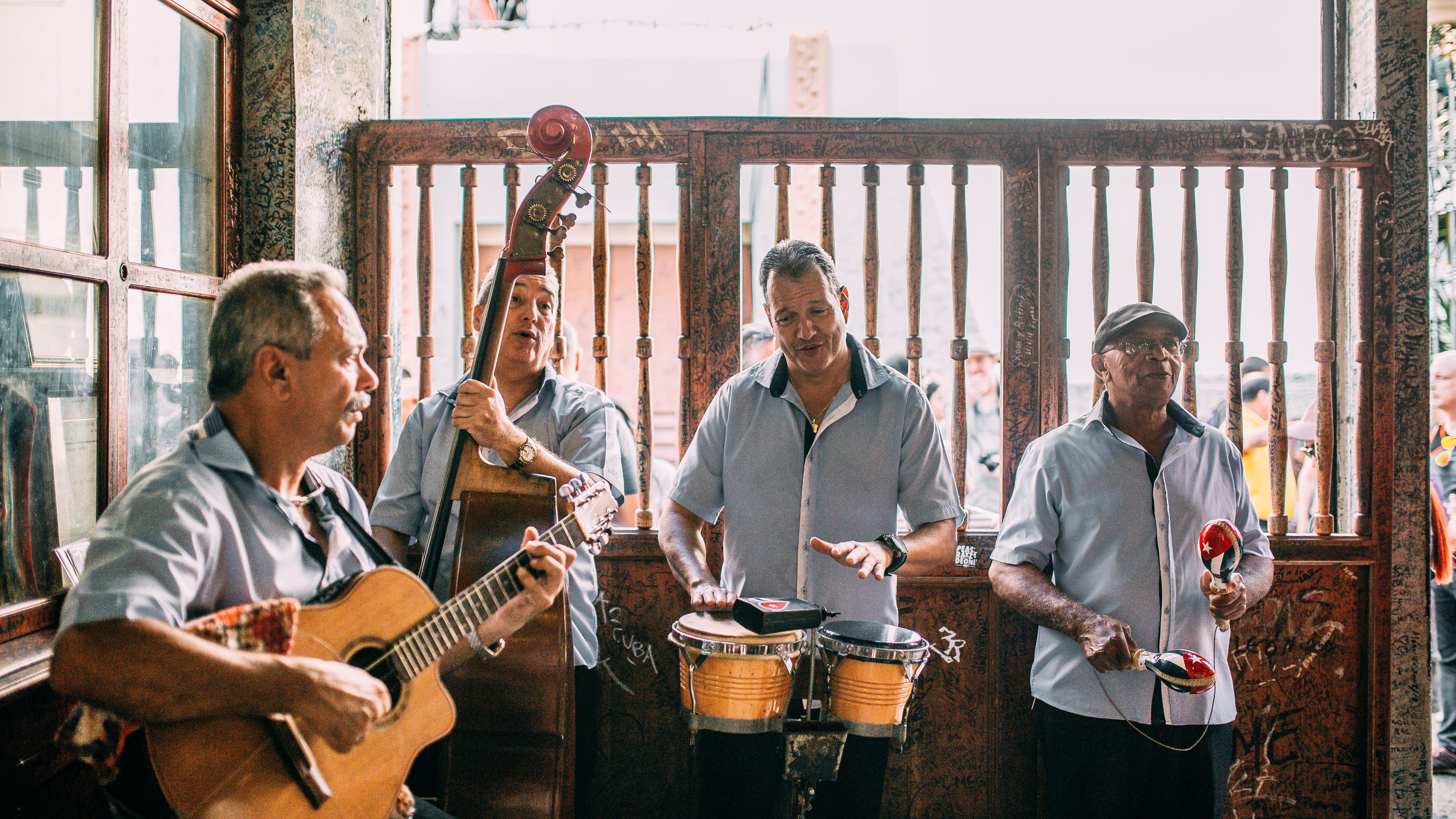Group of Men Playing Instruments