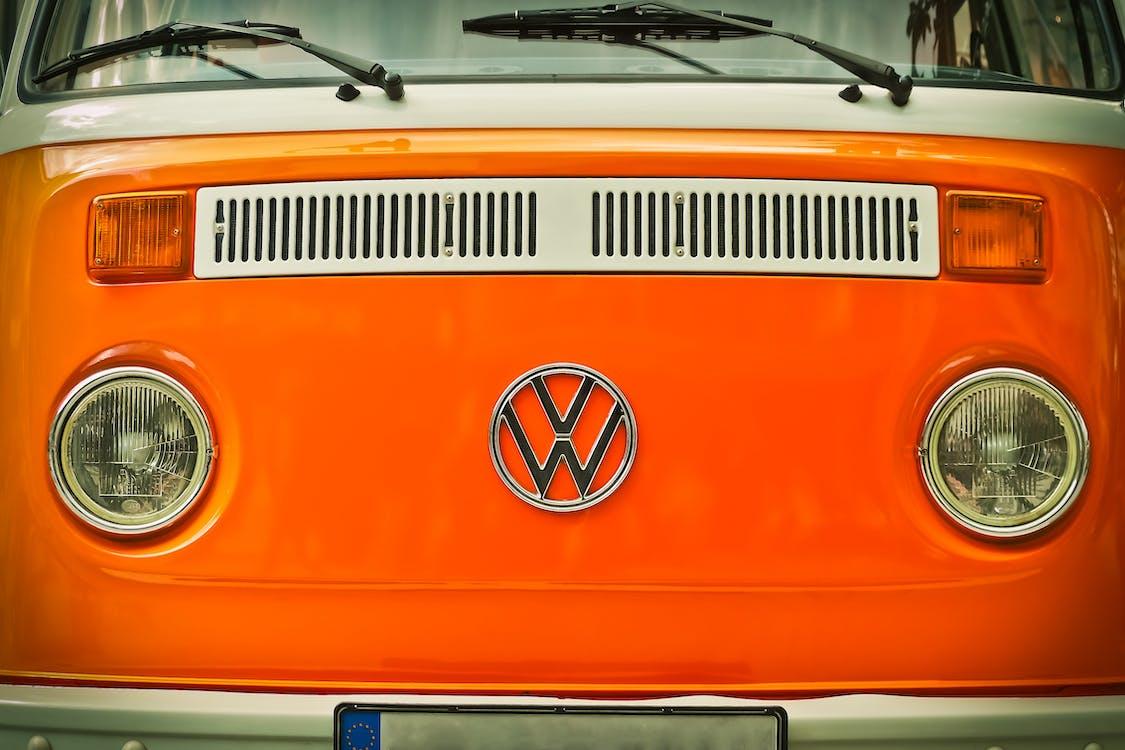 Orange Volkswagen Beatle Van