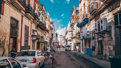 คลังภาพถ่ายฟรี ของ กลางวัน, คนเอเชีย, ตึก, ถนน