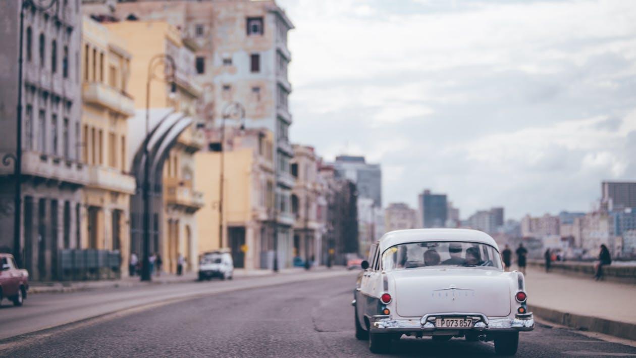 arkitektur, asfalt, biler