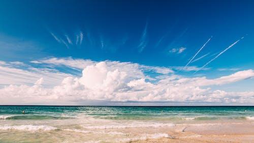 Foto d'estoc gratuïta de aigua, cel, deixants de condensació, estiu
