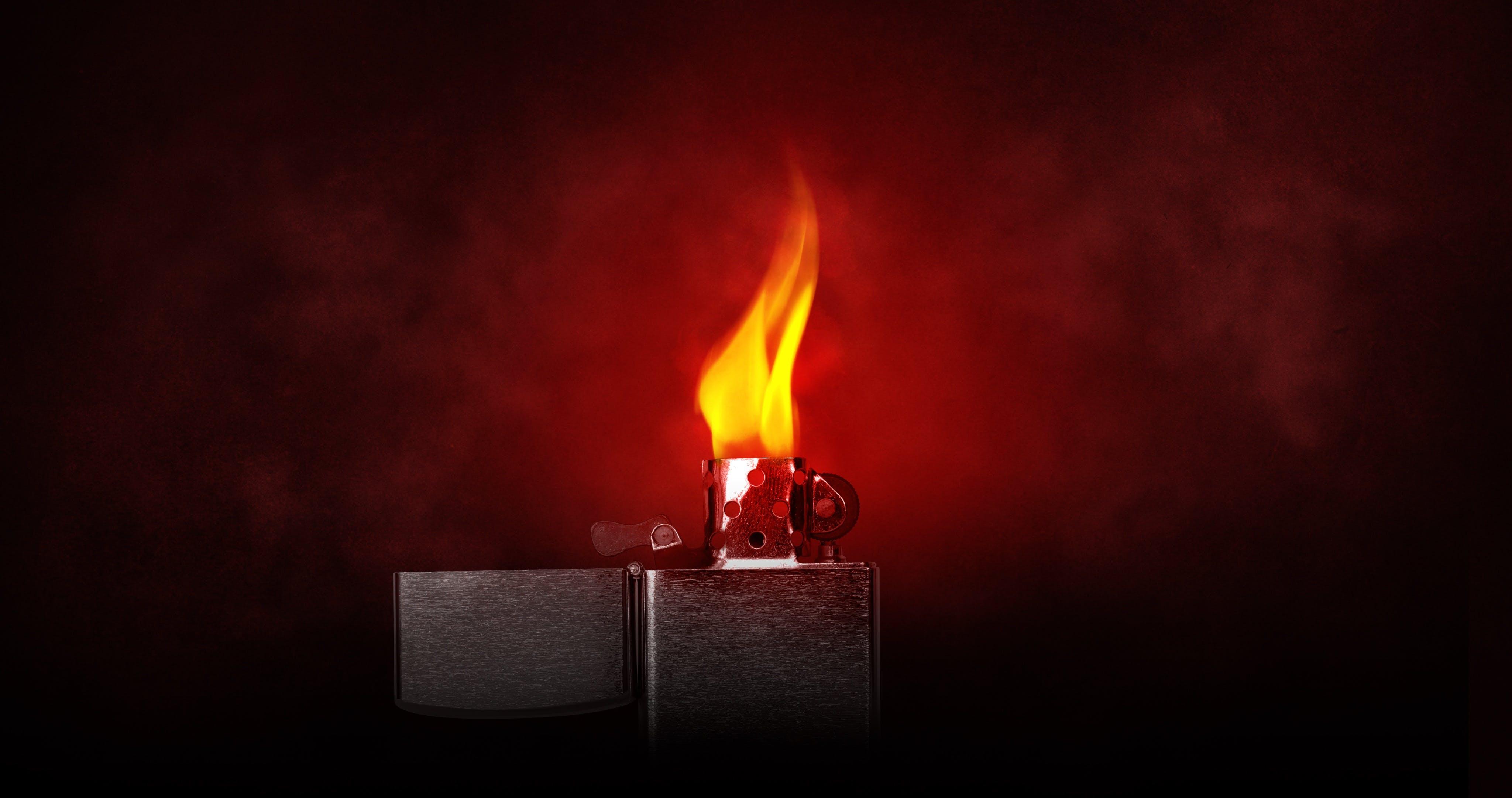 Kostenloses Stock Foto zu feuer, feuerzeug, flamme, heiß