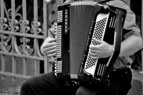 Photos gratuites de accordéon, divertissement, instrument de musique, mains