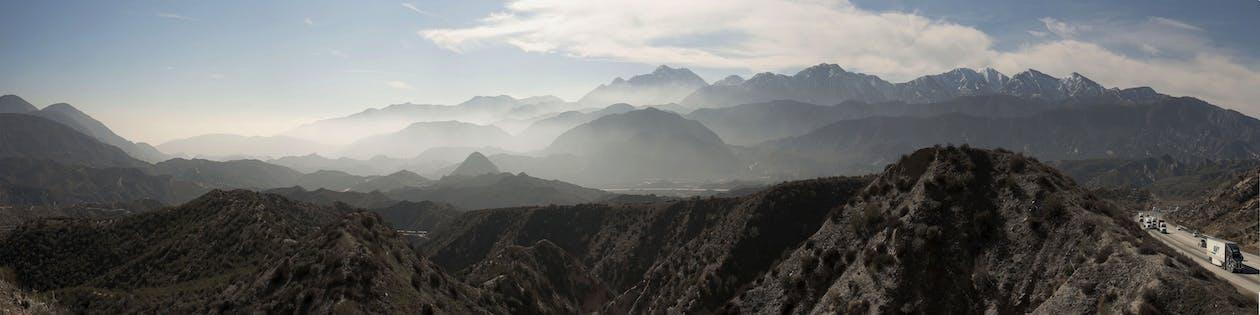パノラマ, ミスト, 山岳
