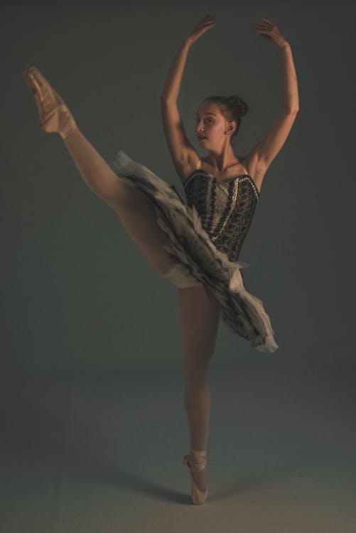 balanse, ballett sko, ballettdanser
