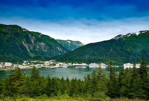 Gratis lagerfoto af bakke, bjerge, by, bygninger