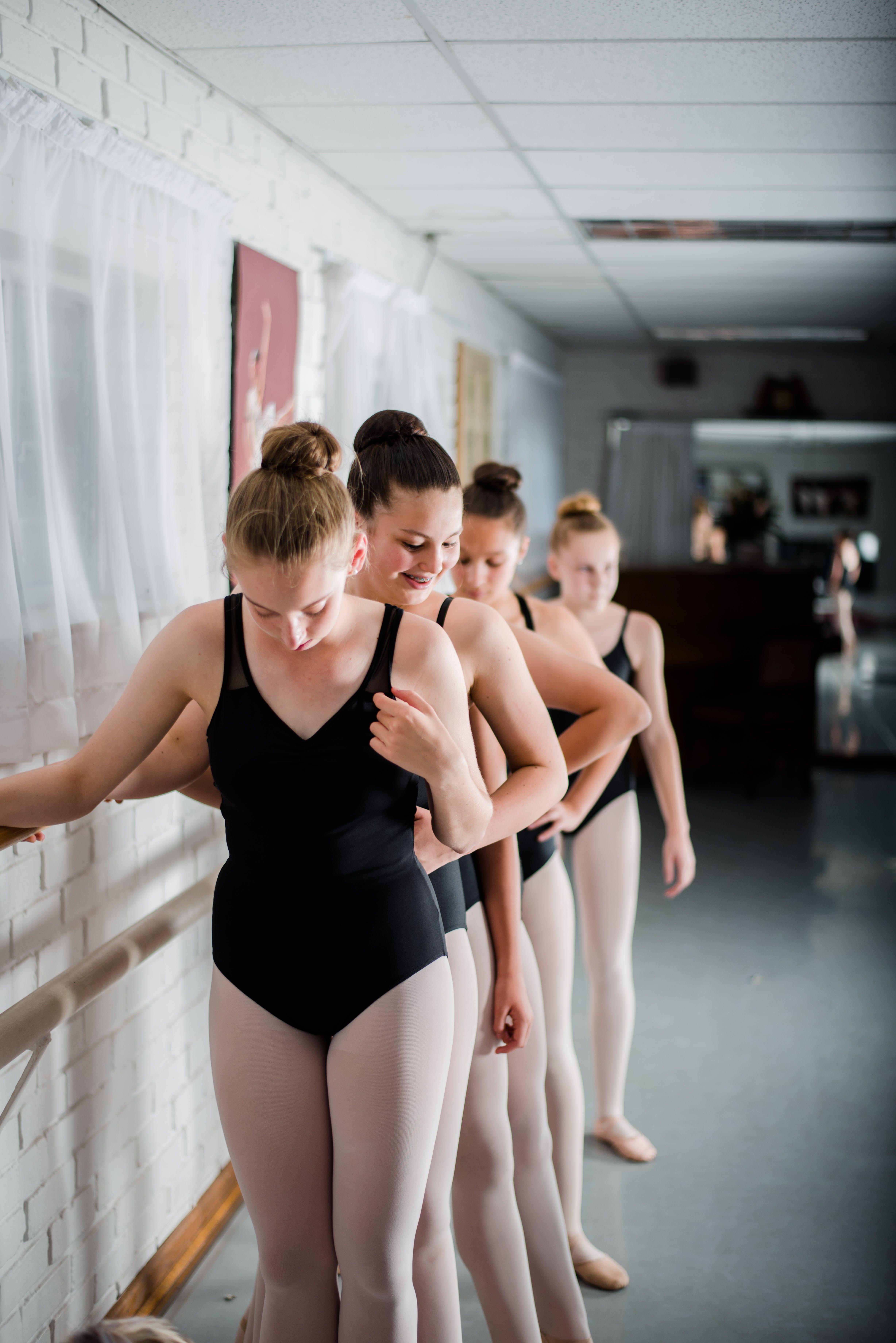 Ballet Dancers Standing in a Line