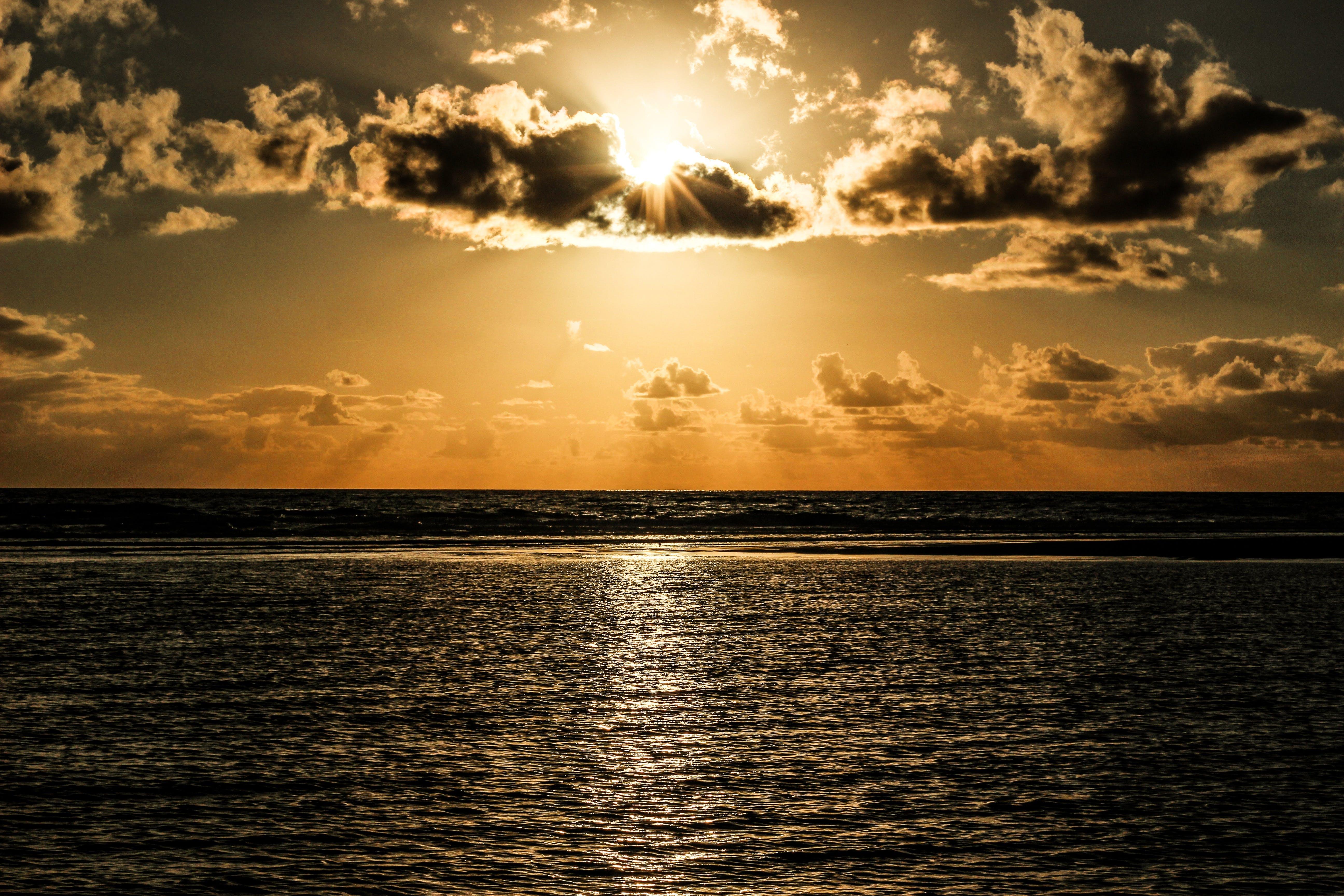 地平線, 太陽, 太陽眩光, 日出 的 免费素材照片