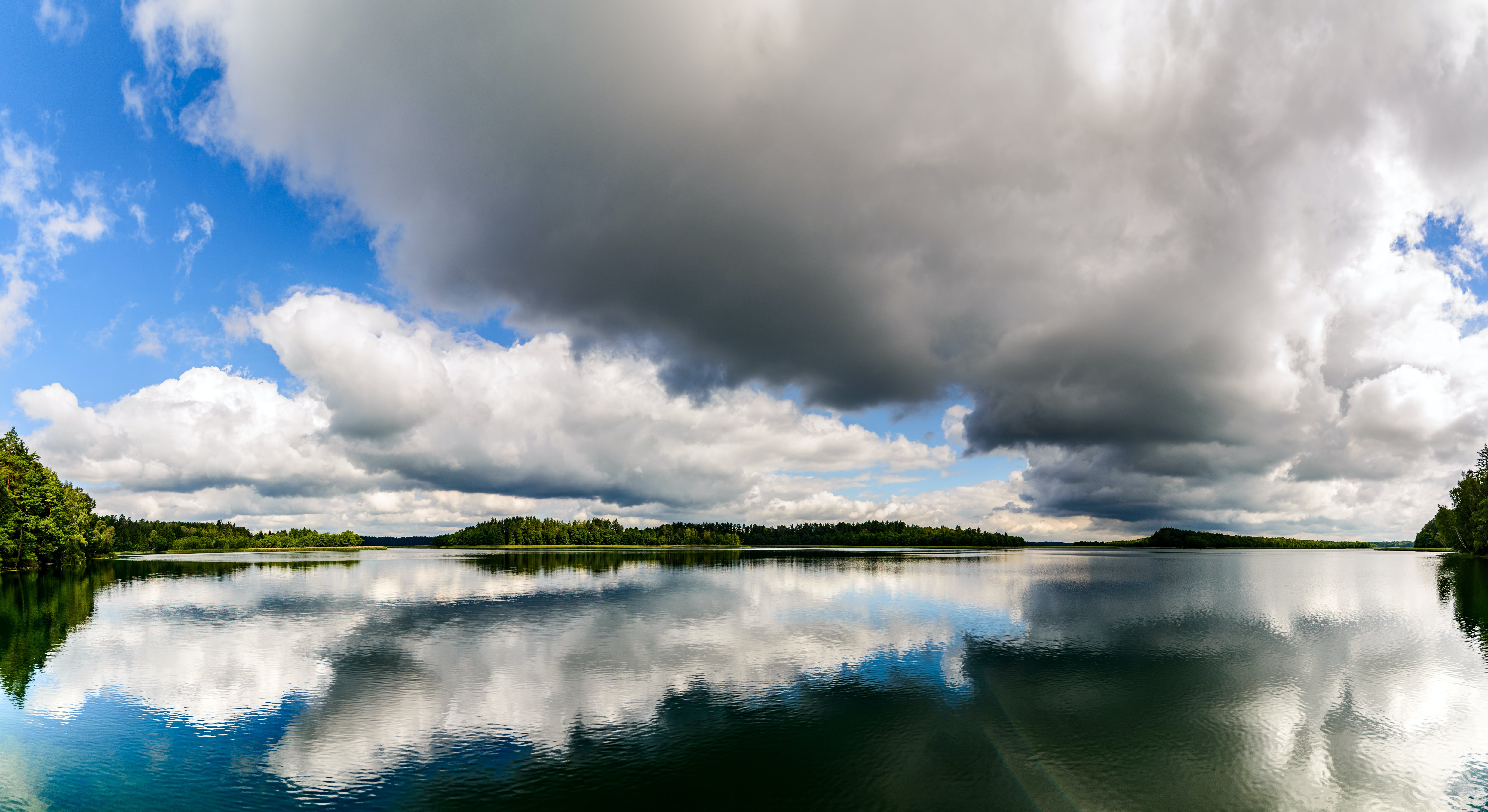 Panoramic Photography of Lake Surrounded by River