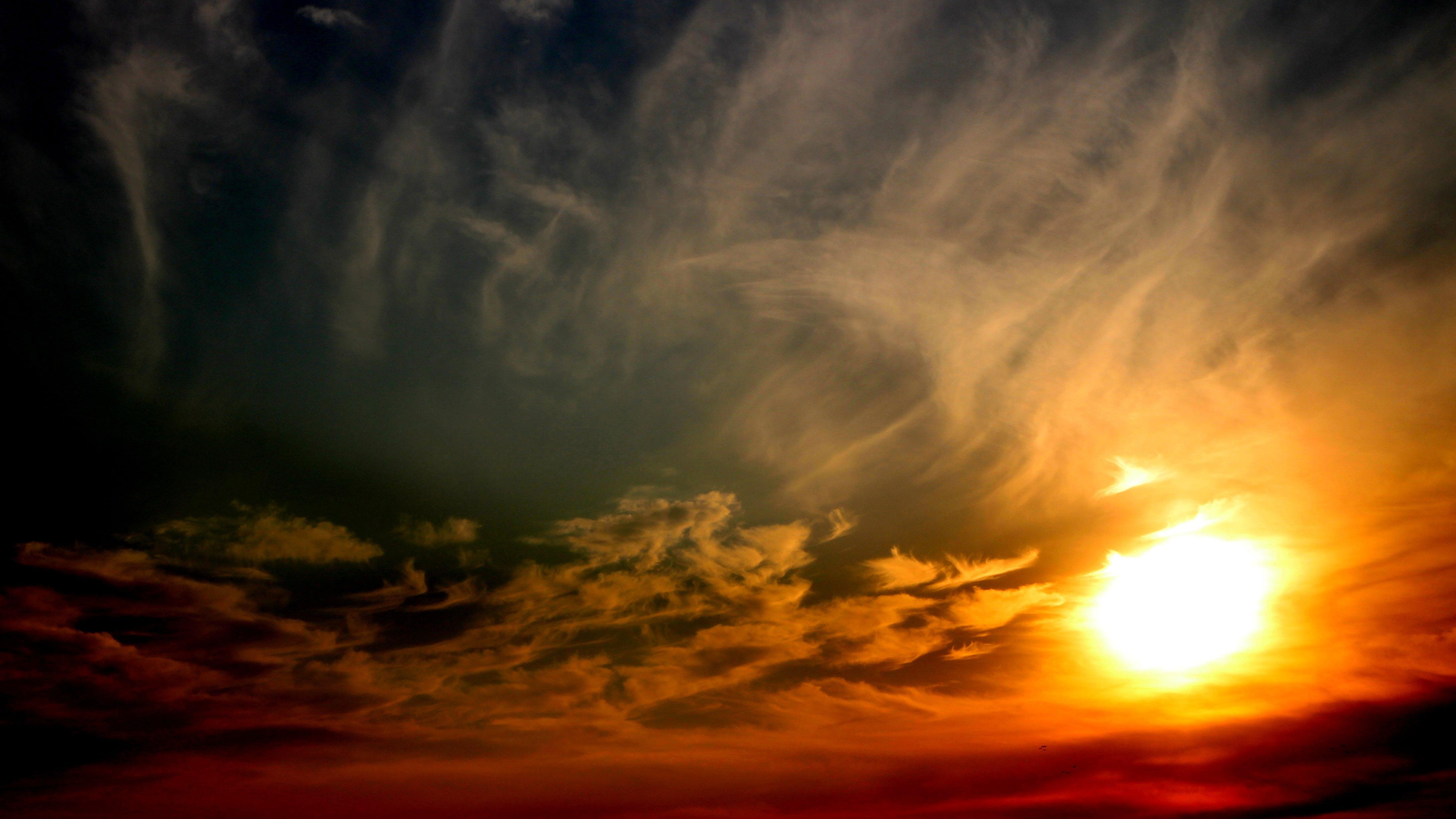 คลังภาพถ่ายฟรี ของ ตะวันลับฟ้า, ท้องฟ้า, ธรรมชาติ, พระอาทิตย์ขึ้น