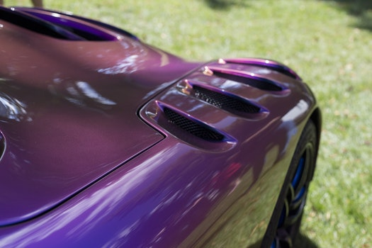 Purple Sport Car during Daytime