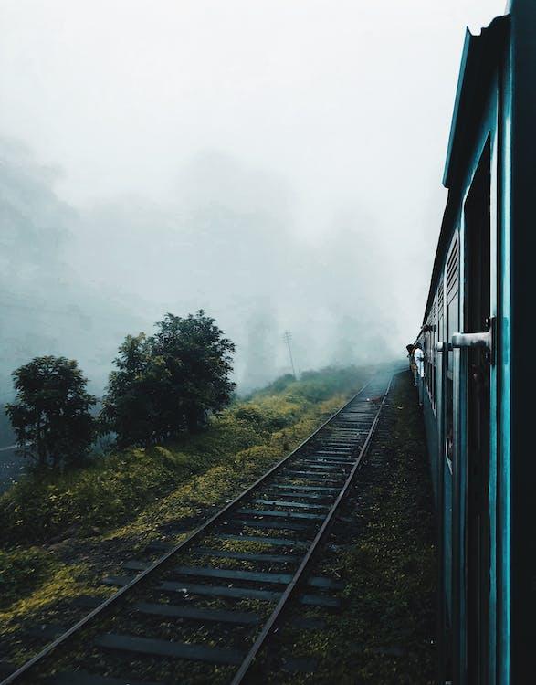 asema, harjoitella, juna
