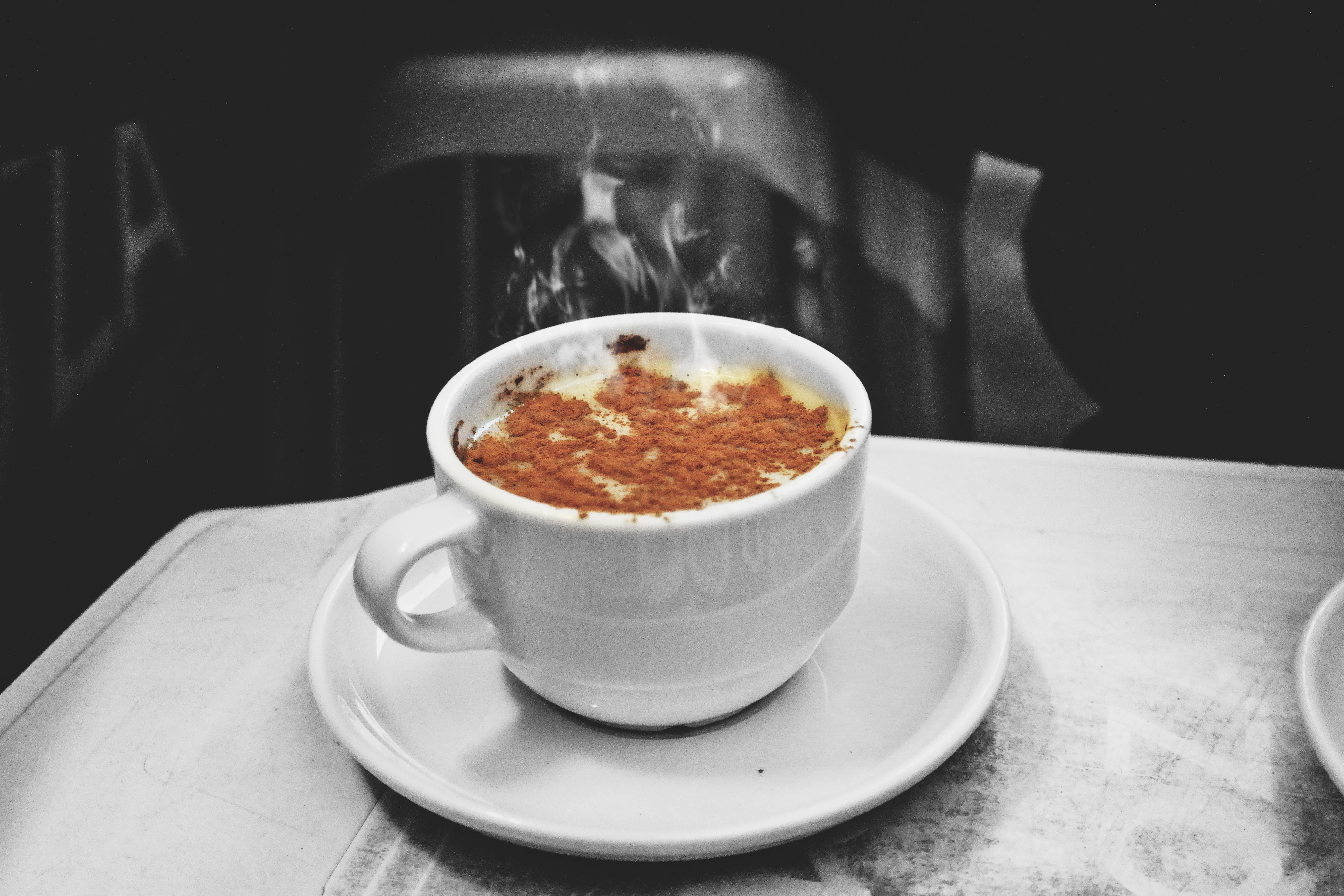 Selective Color Photography of Espresso