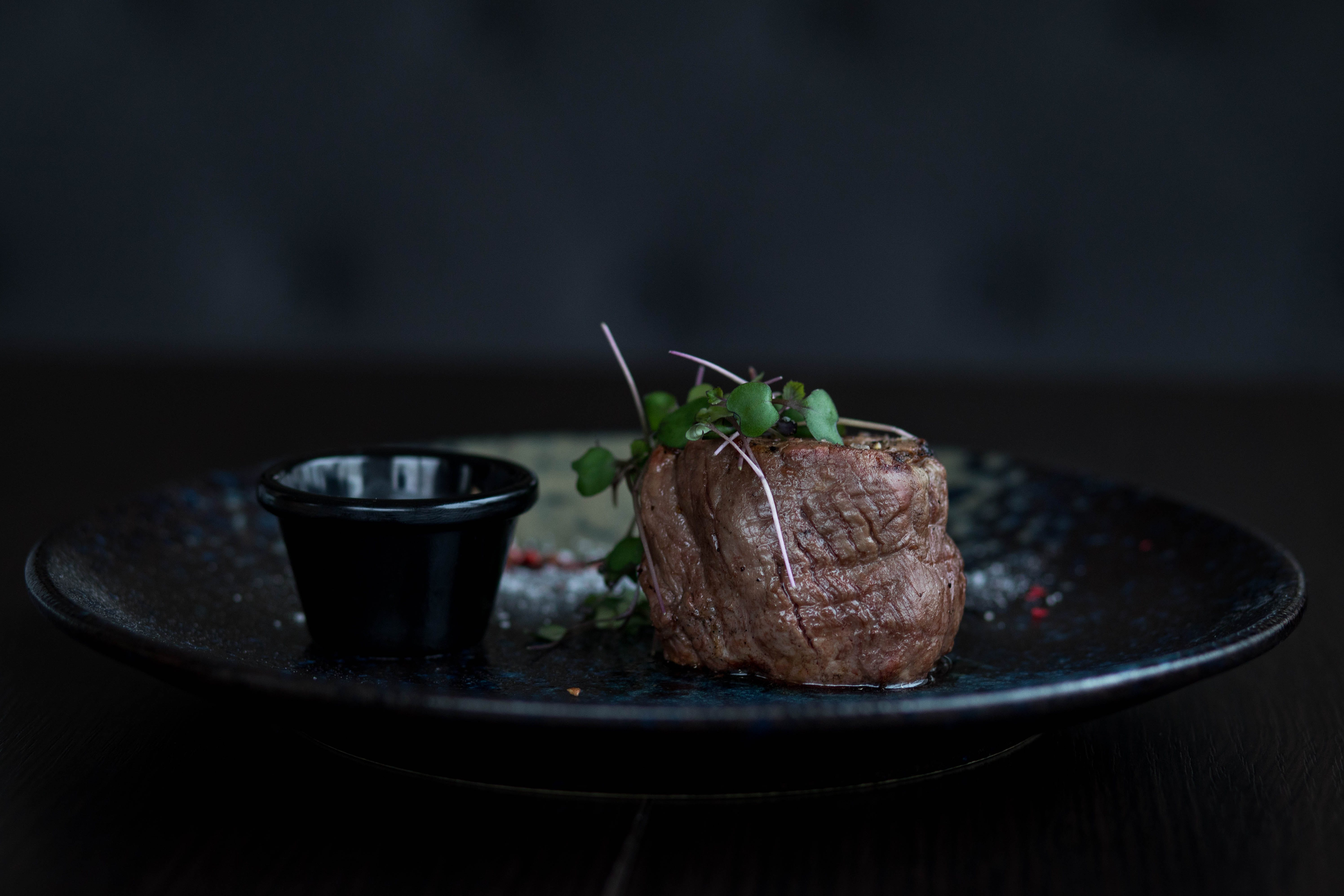 Plate of Beef with Herbs