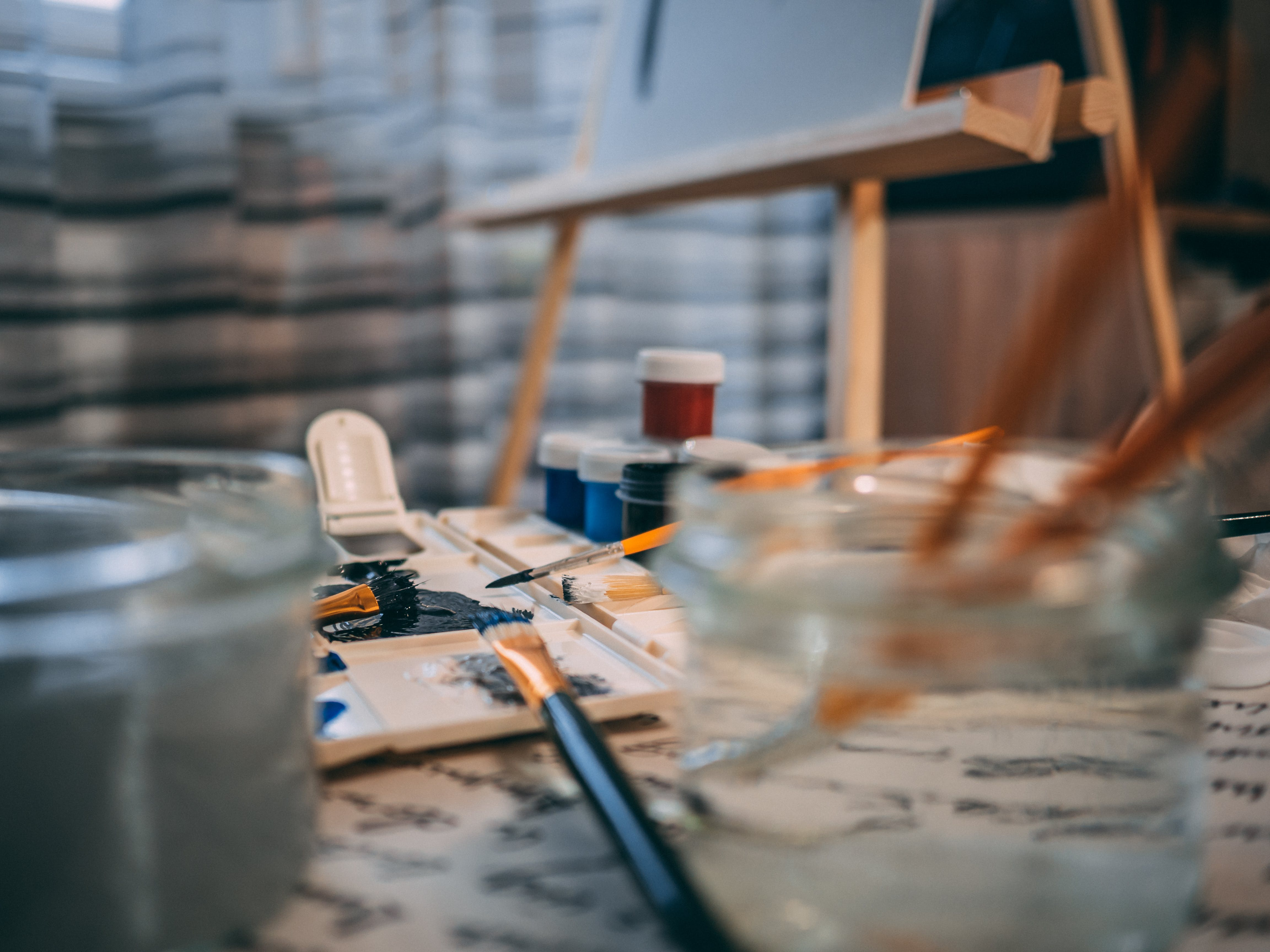 børster, kunst, kunstartikler