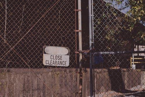 Photos gratuites de abandonné, acier, barrière, chaînes